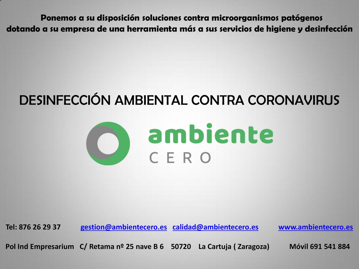 desinfección de virus Zaragoza