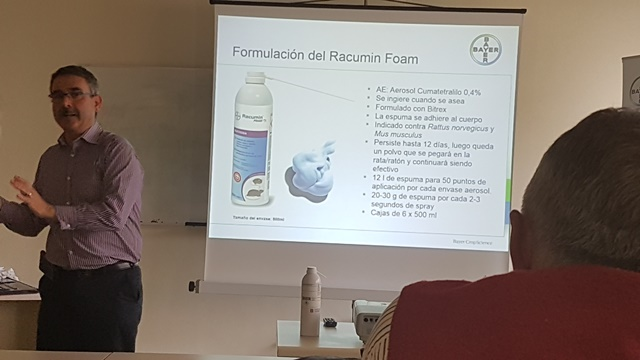 Formulación del Racumin Foam